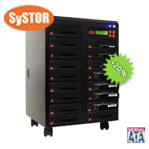 1 mit 15 SATA Festplatten Laufwerk Kopiersystem / Sanitizer