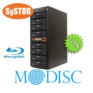 1 mit 7 Blu-Ray / M-disc / CD / DVD SATA-Brenner Geschwindigkeit Kopiertower